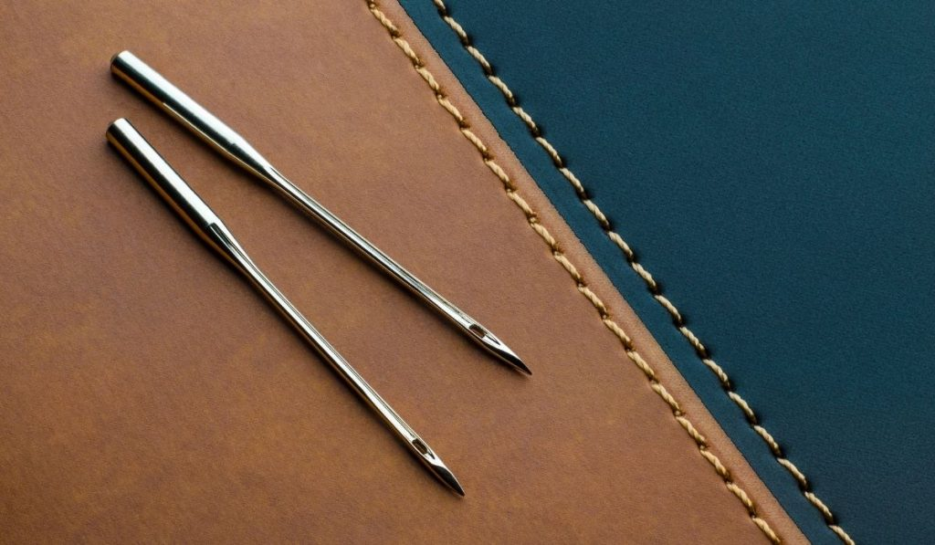 machine sewing needle for leather