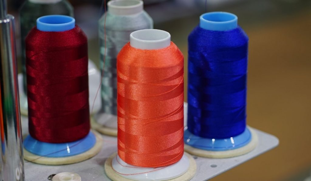 different colors rayon threads