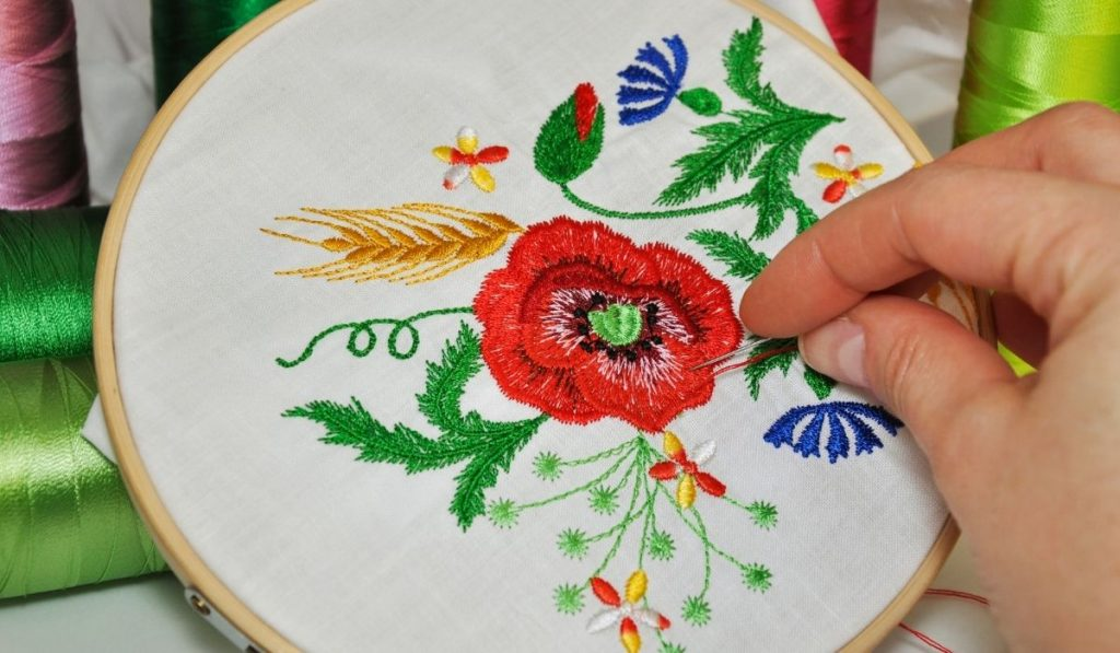 hand embroidery flowers