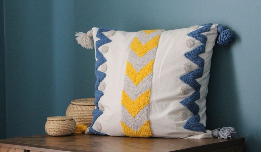throw pillow with tassels